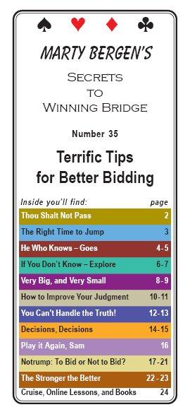 marty bergen u0026 39 s secrets to winning bridge booklets